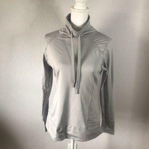 Layer 8 Gray Cowl Performance Sweatshirt sz M